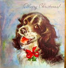 454 best cards christmas puppies images on pinterest vintage
