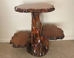 How To Make A Wood Stump End Table by Tree Stump Table Etsy