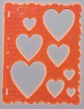 fiskars hearts 1 victorian shape template stencil patten scrapbook