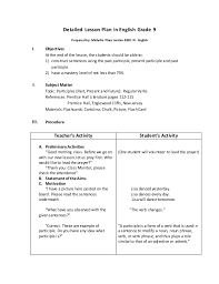detailed lesson plan in english grade 9 michelle