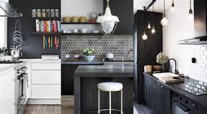 cuisine noir deco cuisine noir et gris cuisine blanche carrelage gris pour idees