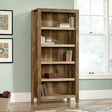 Sauder White Bookcase by Sauder Dakota Pass Craftsman Oak Open Bookcase 418546 The Home Depot