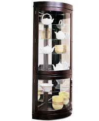 curio cabinet corner cherry china cabinet ideas home furniture
