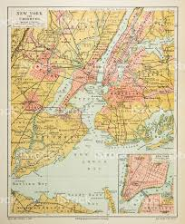 Maps Of New York by Map Of New York City 1895 Stock Vector Art 524542996 Istock