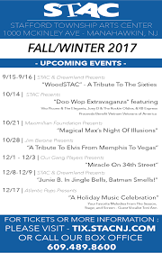 the stafford township arts center announces the fall and winter