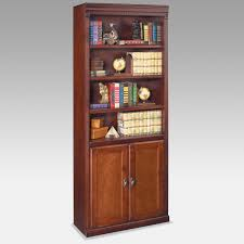 Cherry Wood Bookcase With Doors 59 Wood Bookcase With Doors Rectangle White Wooden Bookshelf With