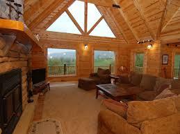 remarkable custom log home deer run homeaway dryfork main level living room view of main level living room