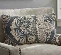 Pottery Barn Lumbar Pillow Covers Kiva Floral Lumbar Pillow Cover Pottery Barn