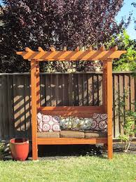 Backyard Arbor Ideas Brilliant Ideas Outdoor Arbor Endearing 1000 Images About Bench