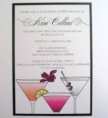 cocktail birthday party invitations vertabox com