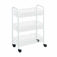 the most 3 tier rolling cart wire basket rack storage shelves
