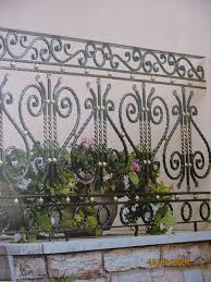 agreeable galvanized wrought iron fence come with black and gold