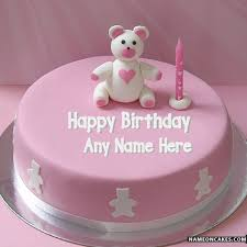 bear cakes for kids birthday with name