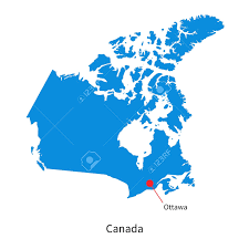 canadian map capitals detailed vector map of canada and capital city ottawa royalty free
