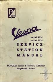 vespa douglas 42l2 u0026 92l2 service manual