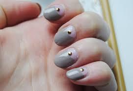 diy half moon nails with studs hello gwen