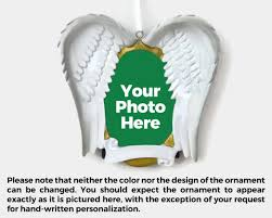in memoriam personalized frame ornament wings