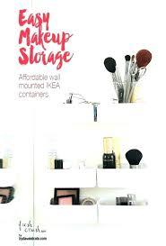 Makeup Bathroom Storage Bathroom Makeup Storage A Mail Organizer Into A Bathroom Makeup