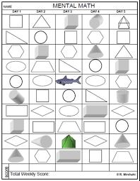mirshahi mental math worksheets