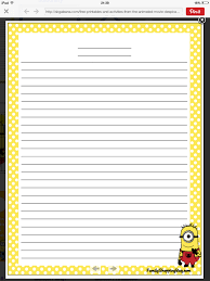 2nd grade printable writing paper minion writing paper education pinterest writing paper minion writing paper