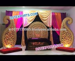 wedding backdrop panels indian wedding stage backdrop decoration golden paisley prop