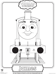 colouring pages of james in thomas tank inside james coloring