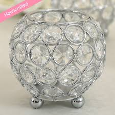 Accessorize Your End Table With Silver Vases And Votives by Amazon Com Vincigant Silver Crystal Tealight Candle Sleeve