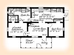 two bedroom house plans 2 bedroom adobe house plans adobe house plan 1248