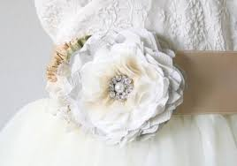 wedding dress sash light grey sash floral bridal belt wedding