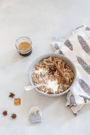 dirty chai latte oatmeal plus 7 coffee breakfast recipes
