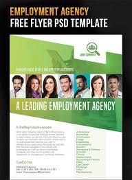 employment agency u2013 free flyer psd template design stuff