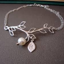 simple pearl bracelet images Branch personalized bracelet sterling silver delicate feminine jpg