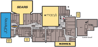 Map Store Jcpenney Styling Salon Westland Shopping Center
