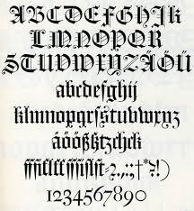 imagenes goticas letras tipos de letras góticas