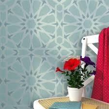 zelij moroccan wall stencils reusable template for diy decor