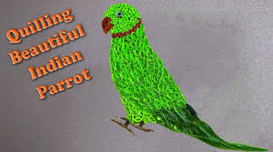Parrot Decorations Home by Quilling Artwork Made Easy How To Make A Beautiful Indian