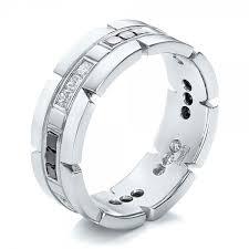 custom mens wedding bands custom diamond men s wedding band 102208