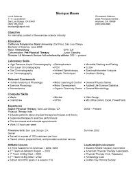 Resume Examples For Physical Therapist by Free Sample Science Math Resume Example
