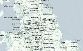 map uk harrogate pontefract weather forecast
