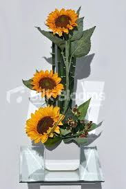 simple flower arrangements with sunflowers fall flower