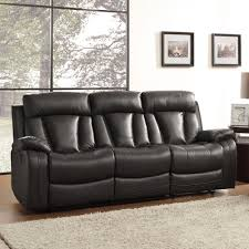 Recline Sofa by Amazon Com Homelegance 8500blk 3 Double Reclining Sofa Bonded