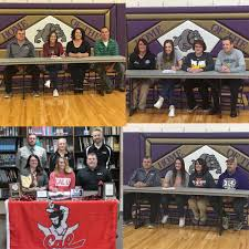 local news wktn com athletes sign to continue education athletic careers