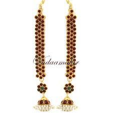 jhumka earrings with chain traditional kaan chain jhumkas jhumka mattal
