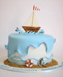 sailboat cake topper we this nautical sailboat cake for a babyshower
