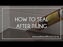 Sealing A Bathroom Floor How To Seal A Bathroom Or Kitchen After Tiling Youtube