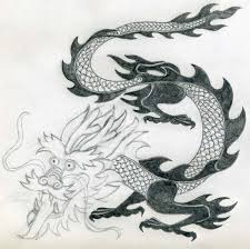 simple perfect dragon drawing
