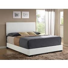 Low Bed Frames Walmart Ireland Queen Faux Leather Bed White Walmart Com