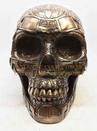 Aztec Home Decor by Crafted Aztec Tattoo Skeleton Head Skull Statue Figurine Home