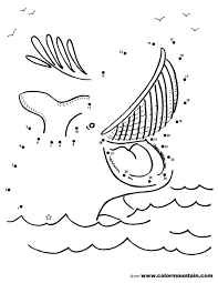 whale activity dots coloring picture create a printout or activity