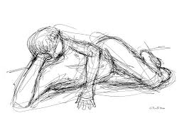 male sketches 5 drawing by gordon punt